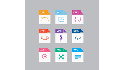 9 exquisite common file icon vector material