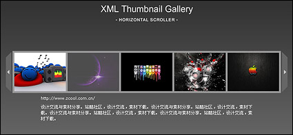 Flash + xml horizontal picture showing the procedure recommended