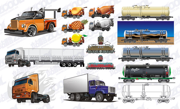 Large automobile Vector material package